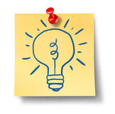 Ideas inspiration creativity light bulb office not Stock Photo