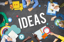 Ideas Inspiration Think Creative Research Concept Stock Photography