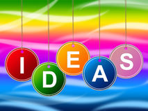 Ideas Kids Means Inventions Youngster And Innovations Royalty Free Stock Photo