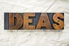 Ideas Letterpress Royalty Free Stock Photos