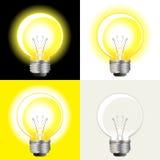 Ideas Light Bulb. Glowing Ideas Light Bulb As Imagination And Creativity Concept Royalty Free Stock Photo