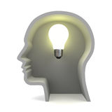 Ideas light bulb concept Royalty Free Stock Photo