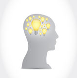 Ideas light bulb concept illustration design. Over a white background Royalty Free Stock Images