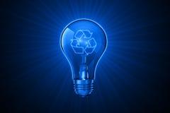Ideas luminosas para reciclar Imagen de archivo