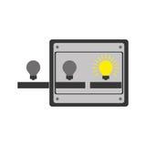 Ideas machine icon. Ideas machine with bulb light icon over white background. colorful design.  illustration Royalty Free Stock Photos