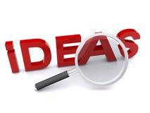 Ideas magnificadas de la palabra Imagen de archivo