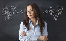 Ideas Makes Earnings Concept Stock Photo