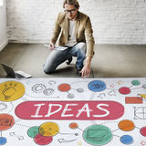 Ideas Mission Imagination Icons Vision Concept Royalty Free Stock Images