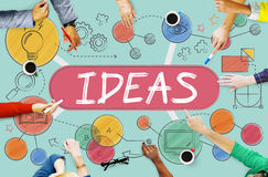 Ideas Mission Imagination Icons Vision Concept Royalty Free Stock Photos