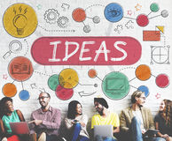 Ideas Mission Imagination Icons Vision Concept Royalty Free Stock Image