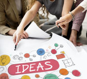 Ideas Mission Imagination Icons Vision Concept Royalty Free Stock Photo