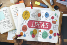 Ideas Mission Imagination Icons Vision Concept Stock Photography