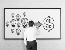 Ideas into money Royalty Free Stock Image