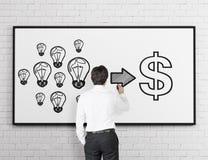 Ideas into money Royalty Free Stock Image