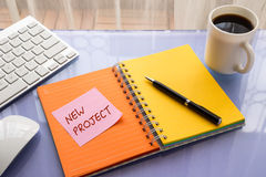 Ideas for new business project brainstorming Royalty Free Stock Images