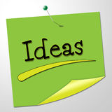 Ideas Note Means Creative Messages And Conception Stock Photos