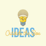 Ideas Outside The Box Abstract Vector Concept Logo. Template. Isolated vector illustration