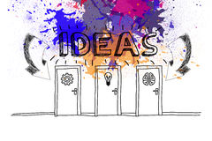 Ideas on paint splashes Royalty Free Stock Photos