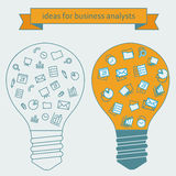 Ideas para los analistas del negocio Fotos de archivo