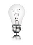 Ideas - Perfect Lighbulb Photo with Reflection Stock Images