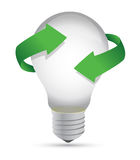 Ideas in process lightbulb concept illustration de. Sign Royalty Free Stock Photo