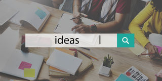 Ideas Proposition Strategy Suggestion Vision Concept stock photo