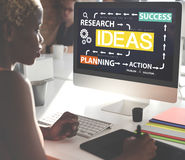 Ideas Research Planning Success Conceptualize Concept Royalty Free Stock Photos