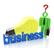 Ideas of ​​resolving the issues in business Stock Photo