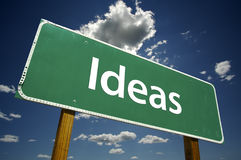 Ideas Road Sign Stock Photo