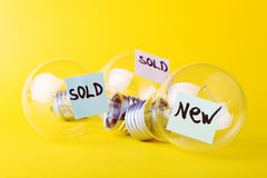 Ideas for sale royalty free stock photography