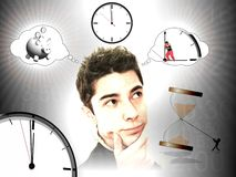 Ideas for save time Royalty Free Stock Image