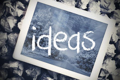 Ideas in search bar on tablet screen Royalty Free Stock Photography