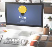 Ideas Sharing Website Mission Objective Online Concept Royalty Free Stock Photography