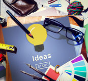 Ideas Sharing Website Mission Objective Online Concept Royalty Free Stock Images
