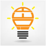 Ideas sign. Creative light bulb, Business and ideas concepts,Vector illustration Royalty Free Stock Image