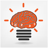 Ideas sign ,knowledge sign. Creative light bulb, Business and ideas concepts,Vector illustration Stock Photos