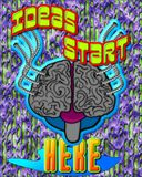 Ideas start here. Stock Image