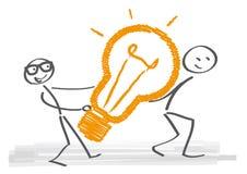 Ideas and Teamwork royalty free illustration