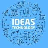 Ideas technology Blue Lines Illustration for presentation Royalty Free Stock Photos