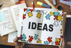 Ideas Thinking Creative Mission Thoughts Concept Stock Image