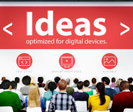 Ideas Thoughts Intelligence Knowledge Seminar Conference Learnin Stock Image
