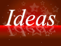 Ideas Word Shows Think About It And Contemplation Stock Photography