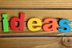 Ideas word Stock Photo