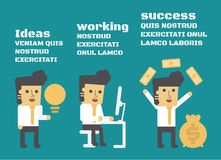 Ideas Working Success Stock Image
