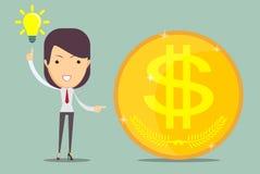 Ideas y dinero Imagenes de archivo