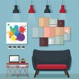 Ideas y diseños de la sala de estar Fotografía de archivo