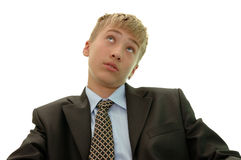 Ideas of young businessman. Stock Photos
