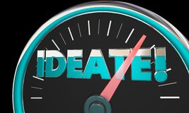 Ideate Speedometer. Measurement Gauge 3d Illustration Royalty Free Stock Photos