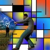 Ideeën achter modern art. vector illustratie