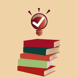 Ideeën die uit uit boeken komen Stock Illustratie